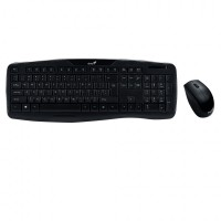 Комплект Wireless multimedia combo GENIUS KB-8000X, USB, кирилизирана клавиатура + мишка
